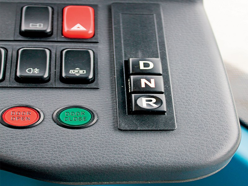 Transmission controls don't get much simpler than this.