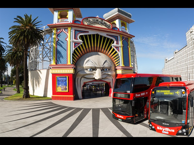 The big red buses will now be a common sight in beachy St Kilda