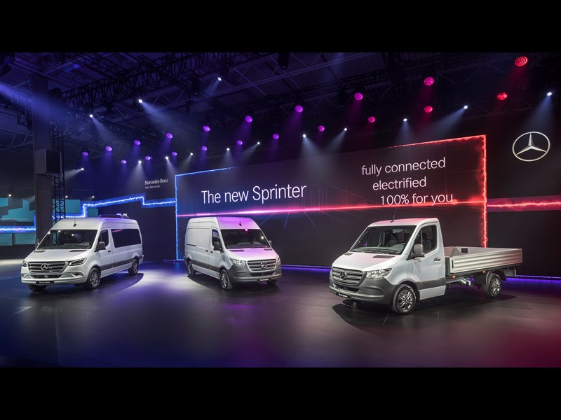 New Mercedes-Benz Sprinter vans