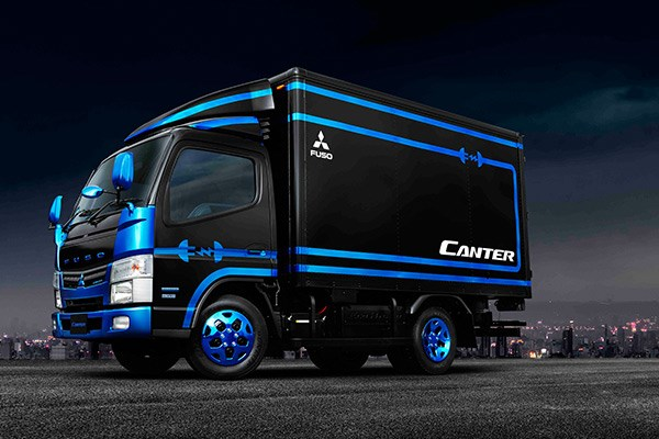 Fuso Canter Power Supply vehicle.