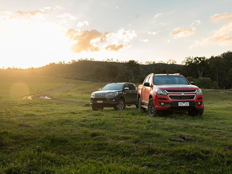 Head to head Holden Colorado Z71 vs Toyota Hilux SR5 Review Matt Wood ATN