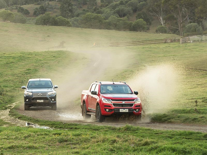 Head to head Holden Colorado Z71 vs Toyota Hilux SR5 Review Matt Wood ATN2