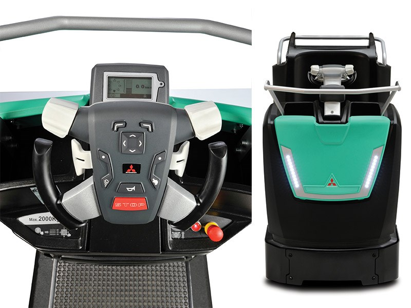 Velia's multifunctional steering wheel (left) and state of the art design (right).