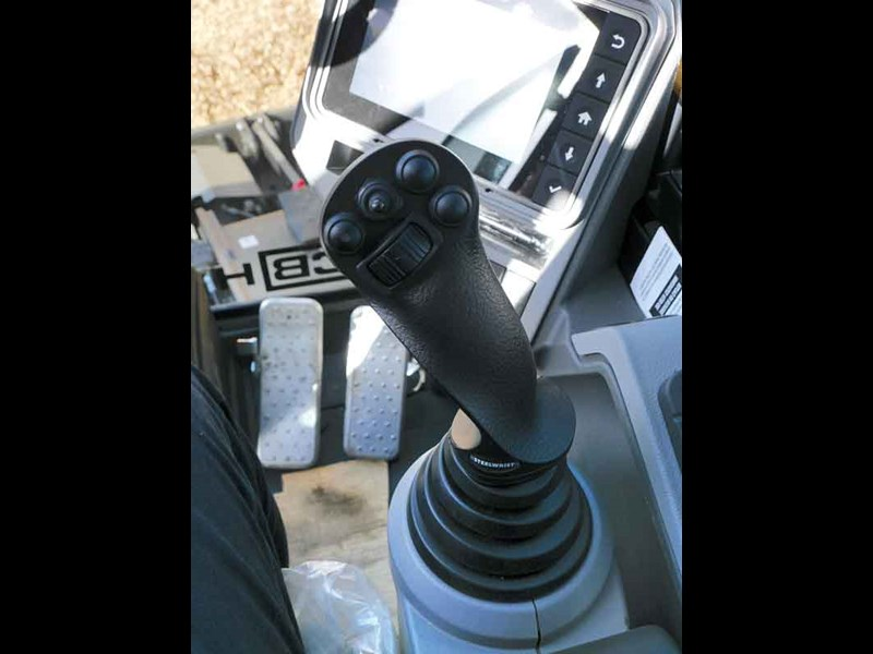 The joysticks have been changed for Steelwrist units