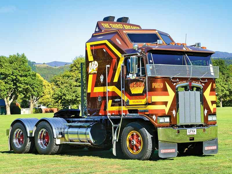 The iconic L&P Kenworth Aerodyne of Demon Contracting won The Best Show Truck and Highest Kilometres Travelled categories