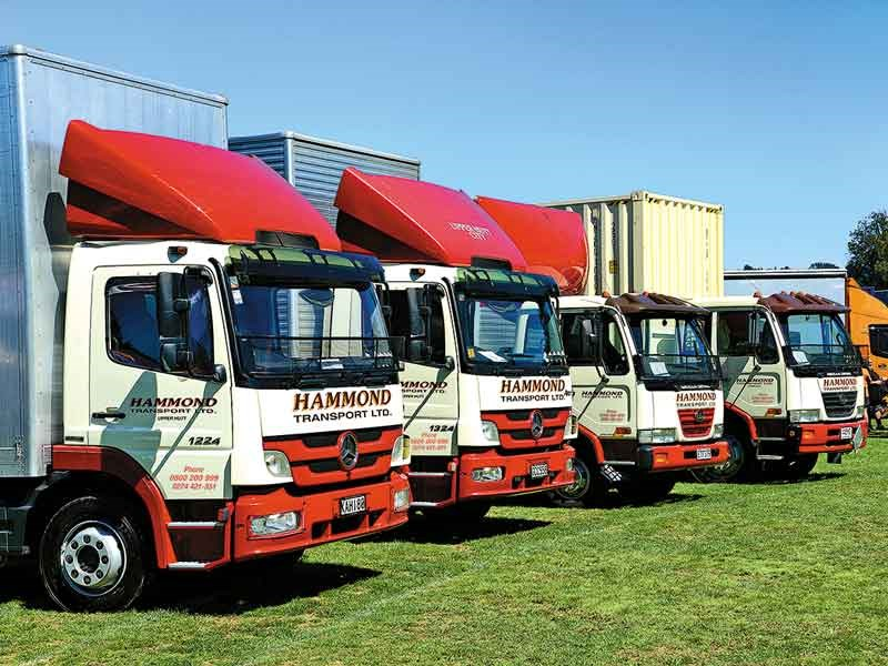 Local carrier Hammond Transport's tidy line-up of furniture movers