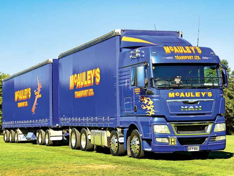 McAuley Transport won the Best New Truck (under 36 months old) category with this MAN