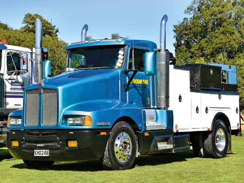 An interesting and rare single-drive Kenworth field maintenance truck of Goodmans Contractors