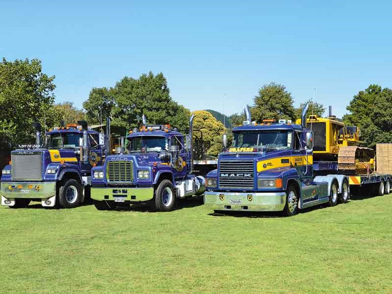 Draper Earthmoving lined up their superbly presented Macks from three different model generations