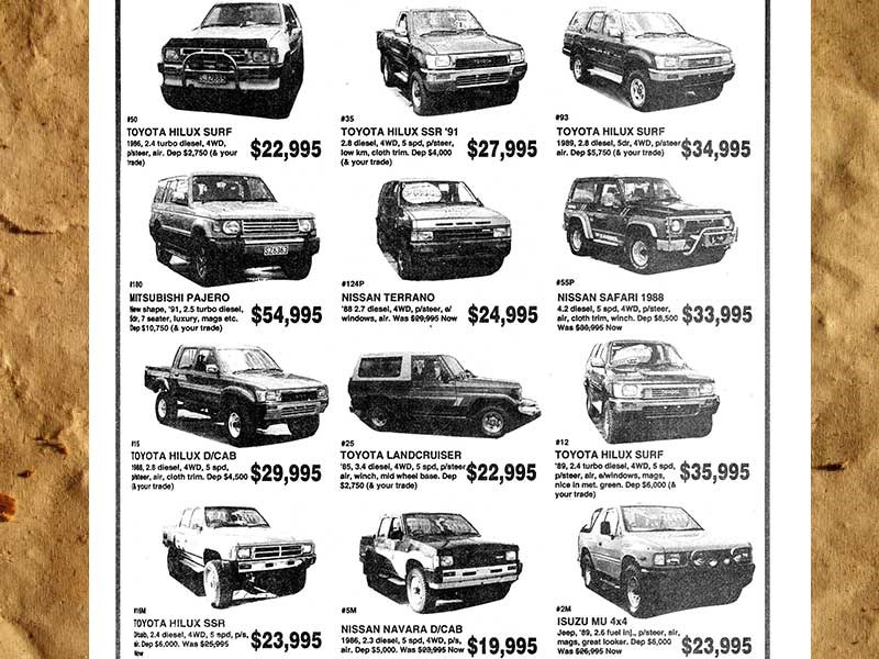 Old truck prices