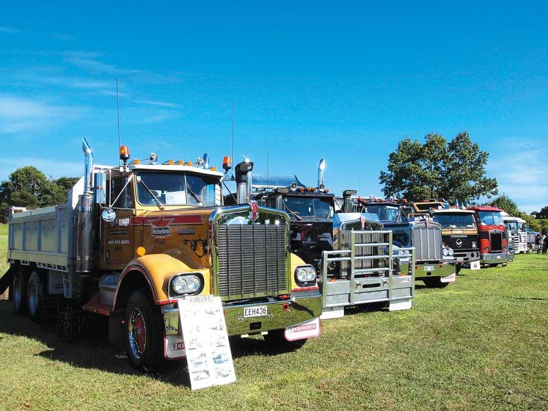 A classic line up at the WEllsford Roaring Lions Truck Show 2018