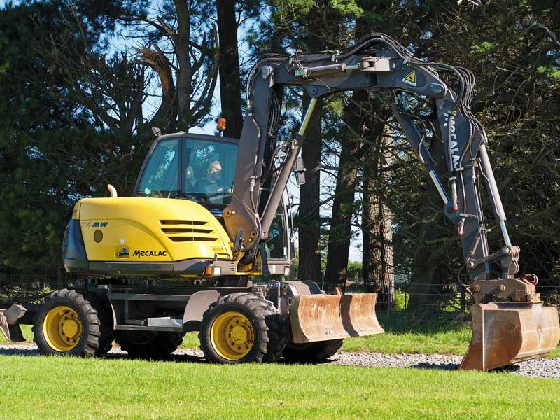 DOW takes a closer look at a second hand Mecalac wheeled excavator