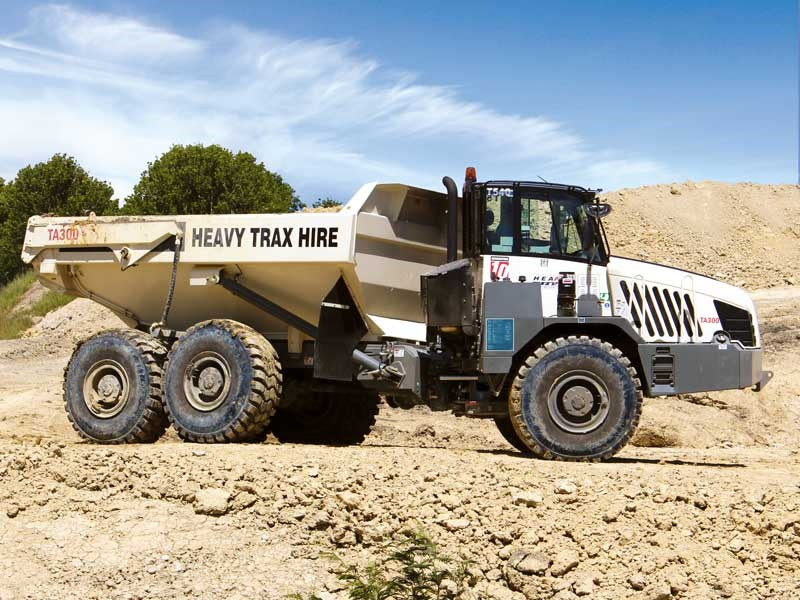 Heavy Trax Hire put five new Porter Equipment supplied Terex TA300 ADT s to work 1