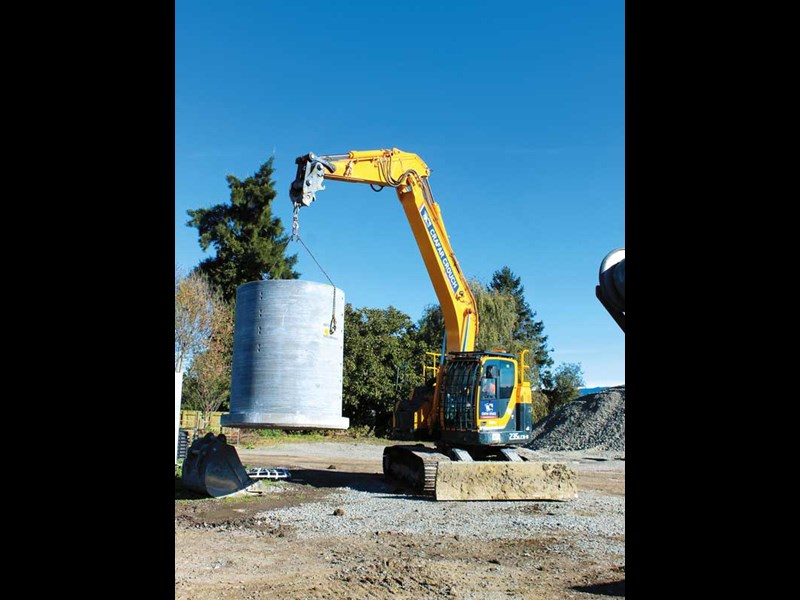 Hyundai equipment is a familiar sight at Crafar Crouch Construction s yard in Marlborough