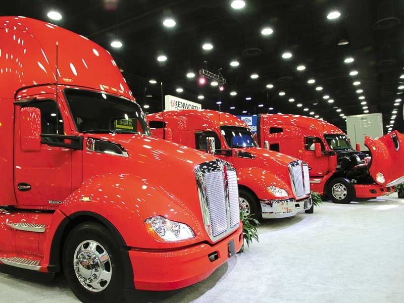 Kenworth collection from teh Mid America Trucking Show in Louisville Kentucky