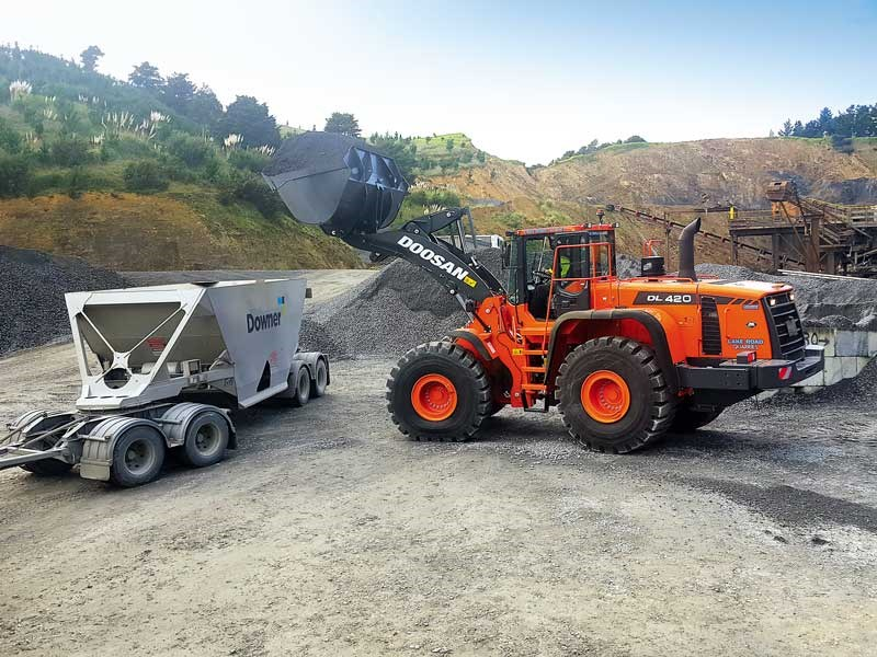 Lake Road Quarries of Mangawhai had taken delivery of a Doosan DL420 wheel loader