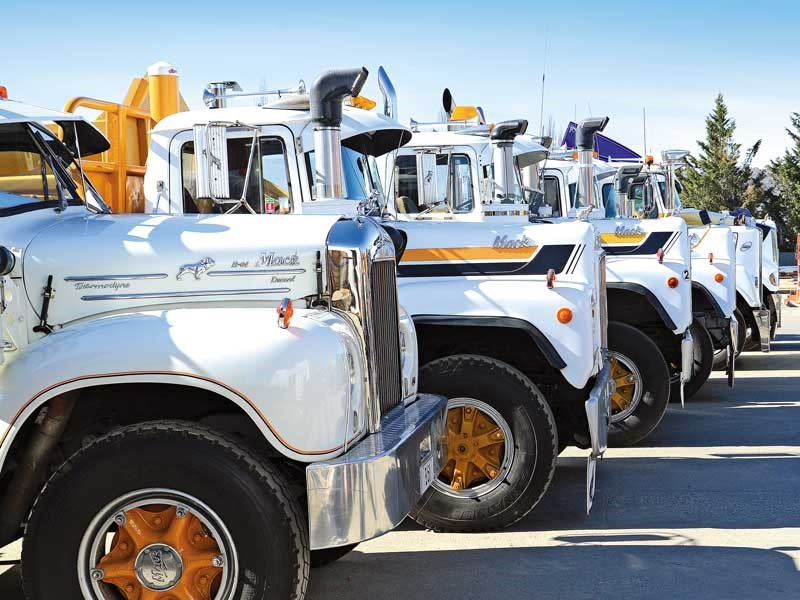 Mack line up at the Alexandra Trucks Show 2018