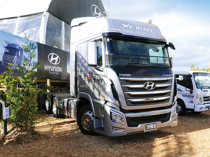 This Hyundia Xcient was one of the many trucks on display at the 2018 NZ National Agricultural Fieldays 2018 1