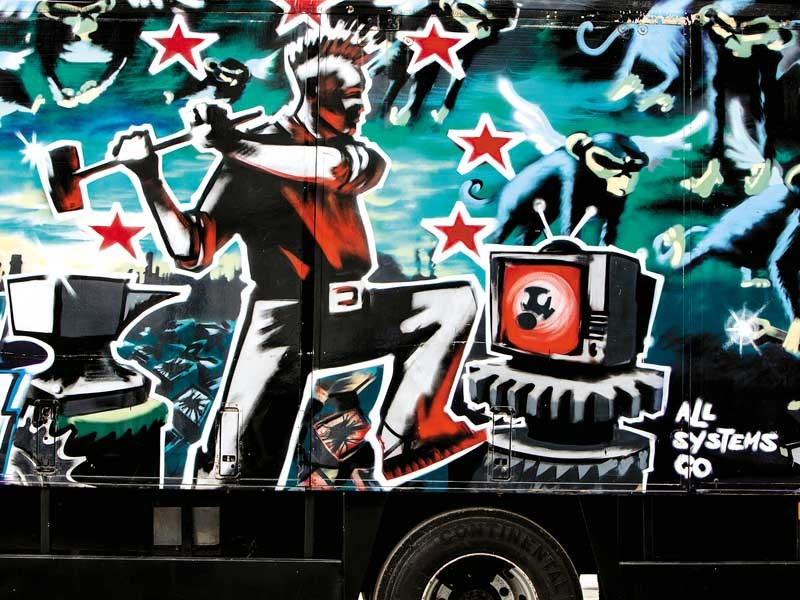 Banksy-painted truck fails to sell at auction