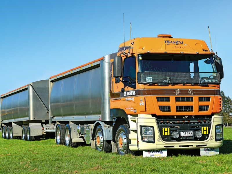 St Andrews Transports Isuzu bulkie looked like it meant business
