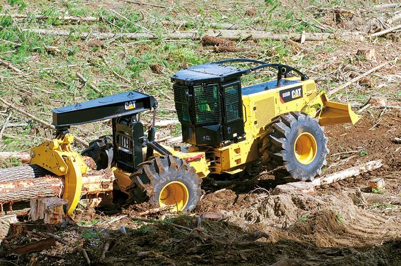 First look: new Caterpillar 555 D-Series skidder