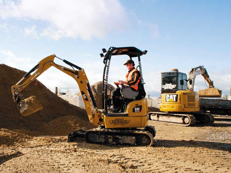 Cat triple threat: mini excavators