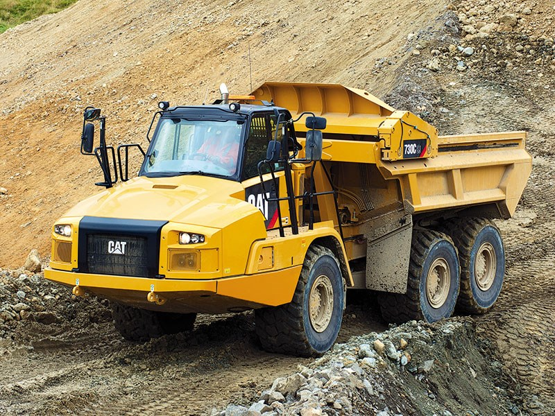The new Cat 730C Ejector articulated truck