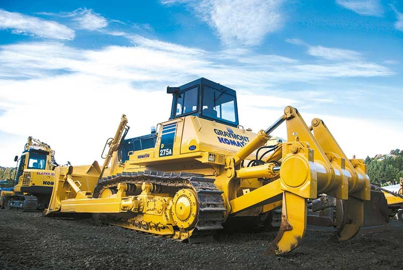 Clarke Machine Hire's fleet of Komatsu machinery
