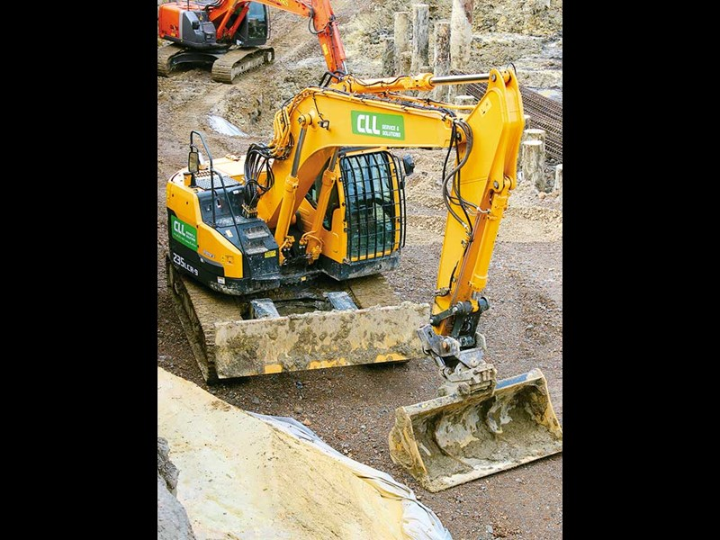 Contract Landscapes Limited and its fleet of excavators