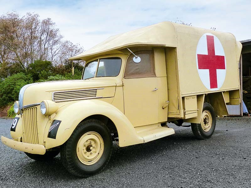 Vintage truck: Ford V8 ambulance