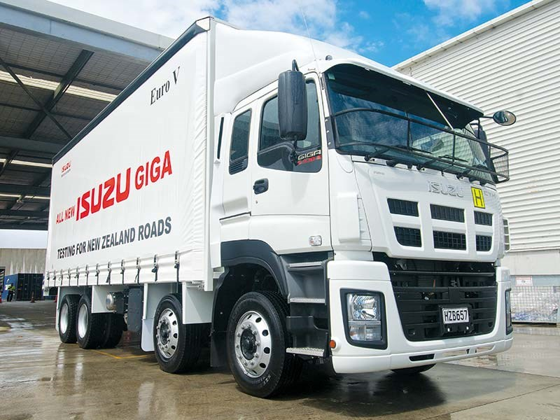 Isuzu tests Euro V Giga trucks ahead of NZ launch