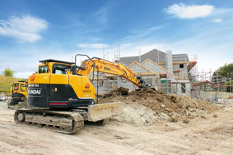 JD Glover's Hyundai construction equipment