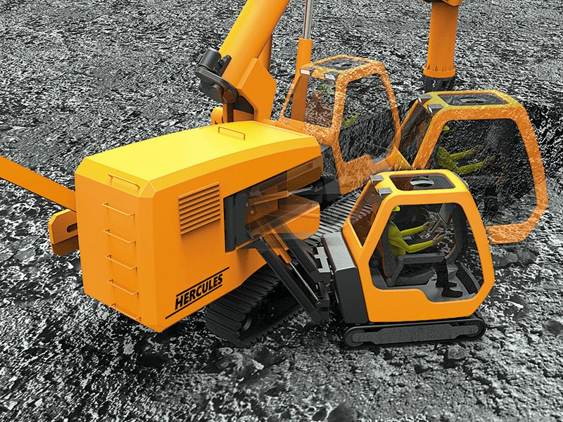 No-swing excavator wins Red Dot design award