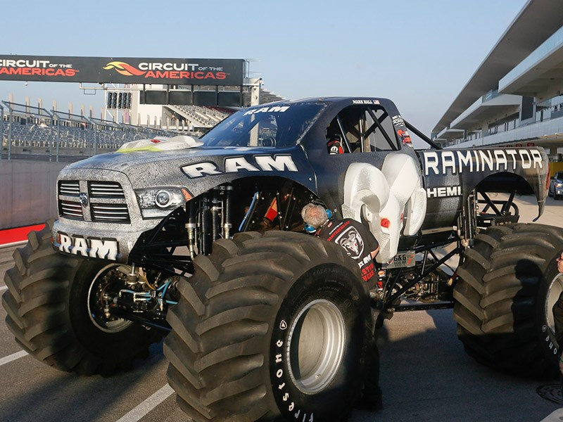 Raminator monster truck sets new world speed record