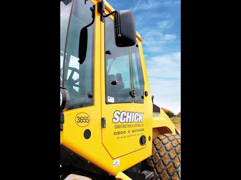 Schick Contracting & Cartage BOMAG gear