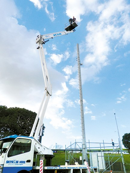 Skyrise Hire's new Snake Boom