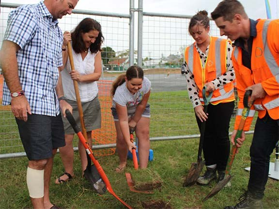Sod-turning ceremony kicks off Waterview Reserve rebuild
