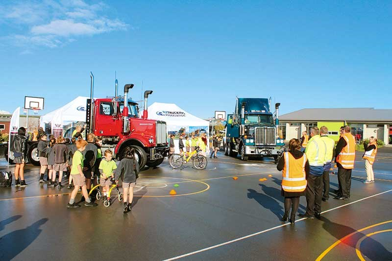 The Sharing the Road Safely with Big Trucks road show