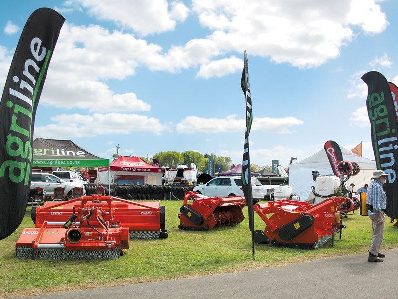 An impressive line up of Vigolo mulchers at Agriline Farm Machinery