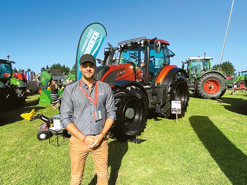 Chris Bain and the pimped out Valtra Unlimited