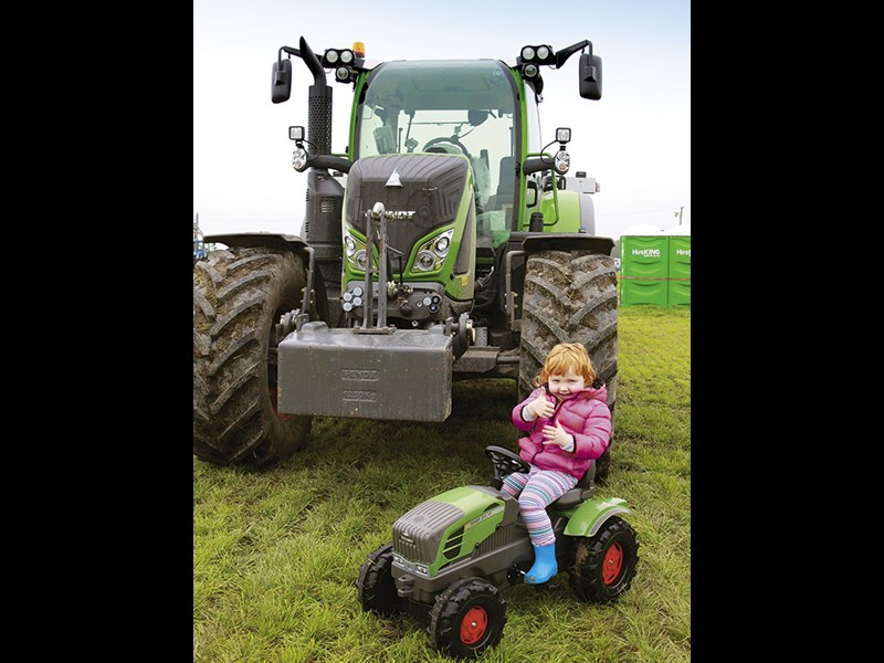 Toy tractor prize winners