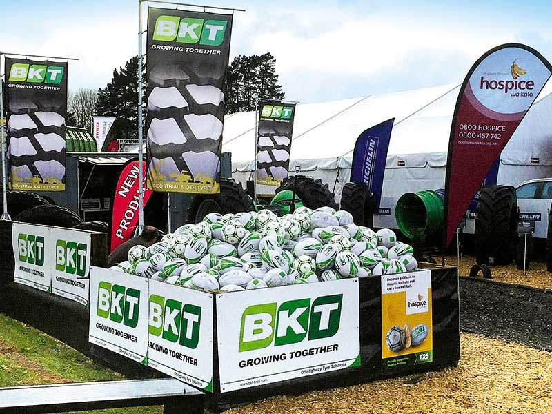BKT and TRS Tyre and Wheel fundraise for Hospice at Fieldays