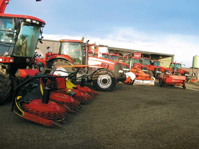 An impressive line up of red machinery in Grain Food s yard