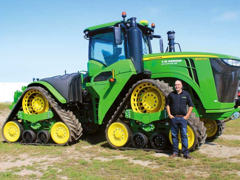 Brent Lilley checks out the massive John Deere 9620 RX