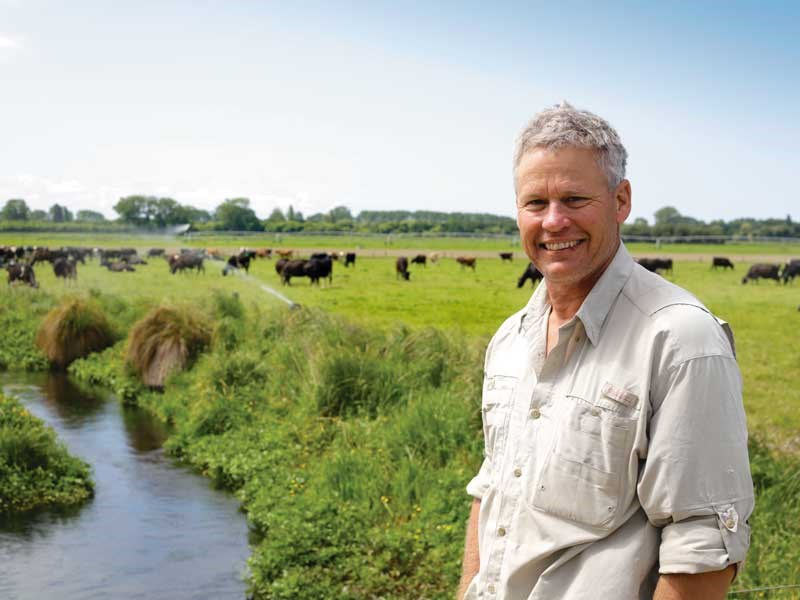Dairy farmer Andy Palmer has a strong focus on sustainability