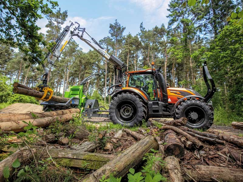Valtra T174 in the forest