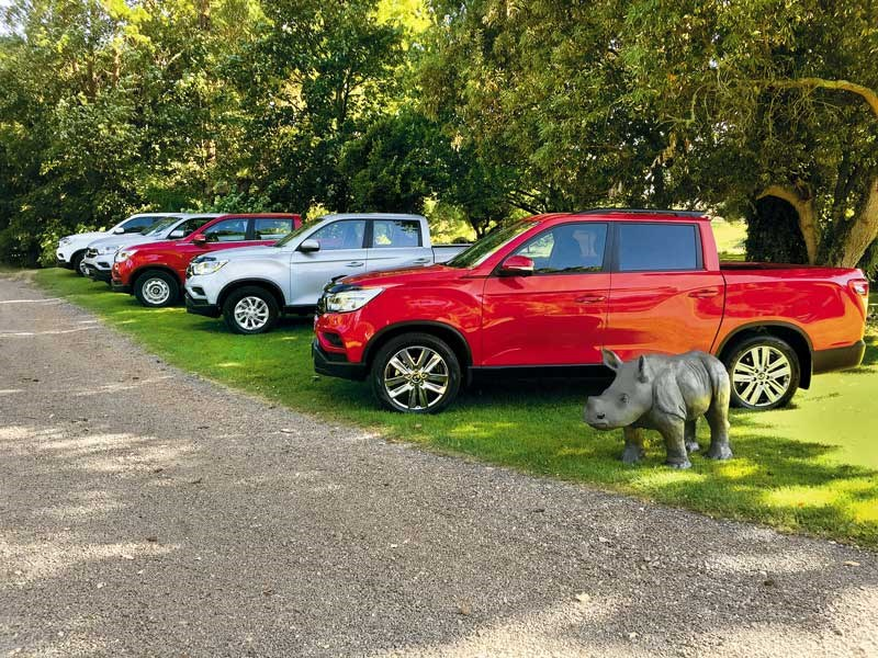 The five models that make up the SsangYong Rhino range