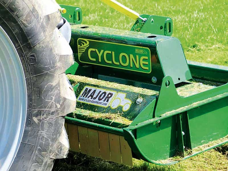 Major Cyclone mower test