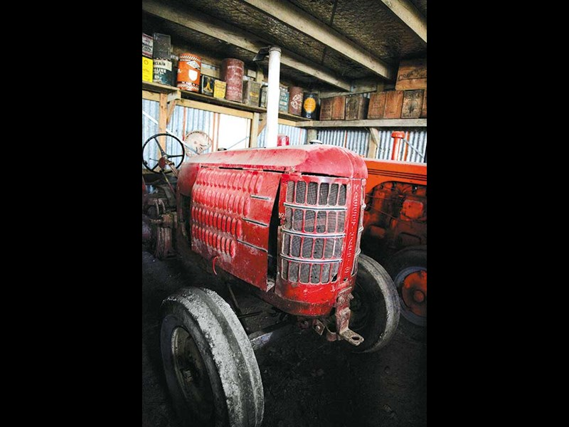Vintage tractor collection in Gisborne