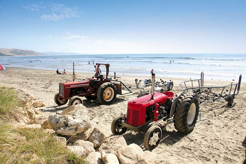 Spotted: old machinery at Waimarama Beach